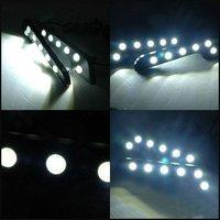 Wholesale White L Shape 181mm*40mm*15mm 6led* 2pcs 1watt High Power Auto LED Daytime Running Light