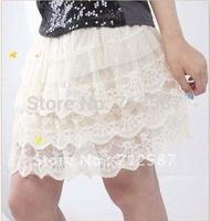 women fashion sweet charming cake mini dress,flower girl's elegant hot shorts Skirts~free shipping#5181