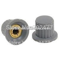 1000pc/lot 6mm Split Shaft Push on Gray Potentiometer Volume Knob