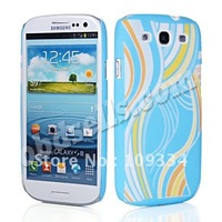 COLOR HARD RUBBERIZED RUBBER BACK CASE COVER FOR SAMSUNG I9300 GALAXY S 3 S III 600
