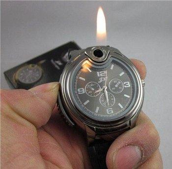 New Fashion Novelty Quartz Wrist Watch With Batane Lighter Refills NIB & Free Shipping