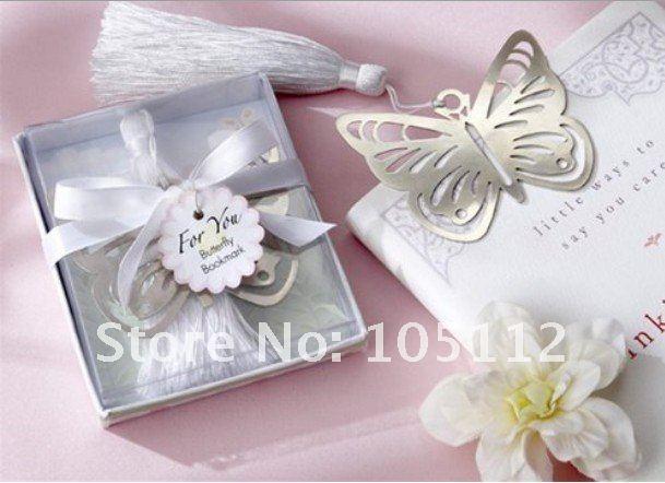 24pcs/lot Butterfly Bookmark Wedding party favor gift Bookmarks Bridal party Christmas Birthday baby shower(Hong Kong)