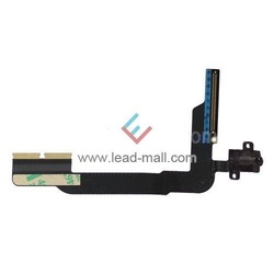 Free shipping Earphone Jack Audio Flex Ribbon Cable Replacement for iPad 3 Wi-Fi(China (Mainland))