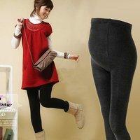 free shipping spring autumn warm brushed black adjustable maternity pants  / abdominal leggings/increase size 9 pants