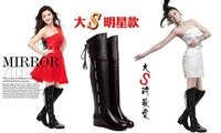 Big size boots US 4-15  New PU Snow Over the knee Fashion boots Increased in Wedges women's shoes MLE-M188