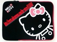 Wholesale prices, 10 inch and 14 inch, cartoon laptop sleeve or bag (Black - Pink) / 013