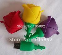Freeshipping 4GB 8GB 16GB 32GB 30pcs/lot mulcolor rose flower usb flash drive memory stick pendrive