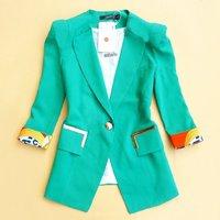 Free Shipping New Brand Women One Button OL short design  blazer,fashion Women Suits Jackets ,plus size