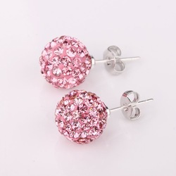 E-SSB020.Shambala Charm Disco Ball Bead Earring,T-Paris Shamballa Rhinestone Crystal Earring.Fashion Jewelry(China (Mainland))