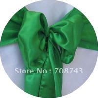 Free shipping /green  satin chair cover sash /satin sash