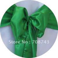 Free shipping /green  satin chair cover sash /satin sash
