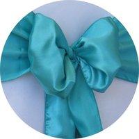 Free shipping /turquoise satin chair cover sash /satin sash
