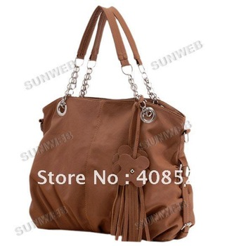 2 PCS/LOT Wholesale New Tassel Series PU Leather Women Shoulder Bag,Ladies Handbag 4 Colors Available Free Shipping5248