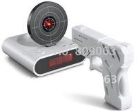 Laser Target Gun Alarm Clock with LCD Screen Free Shipping