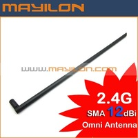 dear,free shipping by EMS,DHL,2.4G 12dbi RP-SMA Omni-direction Wireless LAN Antenna