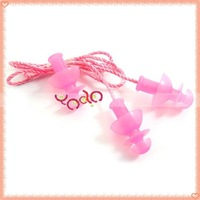 Free Shipping!Ear Plug,Swimming Earplugs,Spiral Earplug With Rope Top Grade Pink 50pcs/lot T00012PI