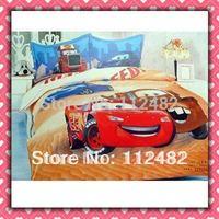 Cartoon Cotton children 3pcs Bedding Set Cars Boy Kid Bedding Free Shipping