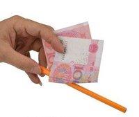 1 pcs/lot misled pencil through bill----Free shipping magic tricks, magic props, magic show magic