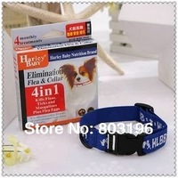 Free Shipping 4 in 1 Anti Fleas Ticks Mosquitoes Flea Eggs Harley Baby Dog Collars with Individual Packing 10PCS/LOT
