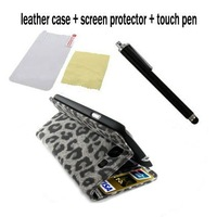 Leopard Design Leather Case with stand for Samsung Galaxy S3 i9300 +Screen Protector +Stylus