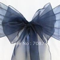 Free shipping / blue  organza sash for wedding