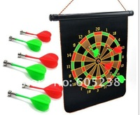 "Free shipping 17"" Club Fun Magnetic Dart Board Pack Magnet Dartboard with 6 Magnetic Darts"
