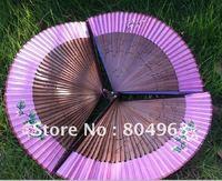 [China Confucian]Free Shipping 10pcs of silk fan with Spray paint ribs,bamboo fan,folding fan