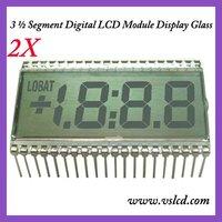 3 and half 7-Segment Digital LCD Panel Display Glass