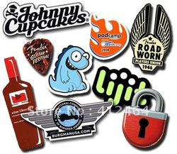 FREE SAMPLES!!! Freeshipping!!Wholesale Free Shipping Vinyl Custom Die Cut Stickers, paper sticker label,pvc cartoon sticker(China (Mainland))
