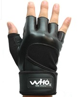 WHO 4 color High Quality PU Fitness Cycling Sports Gym Weight Lifting Gloves with long wrist protect Durable Non-slip