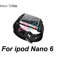 Free shipping only 1pcs min order high quality TikTok Multi-Touch Watch Kits Bracelet Band Wrist Strap for apple iPod Nano 6