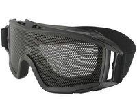 Airsoft Tactical Metal Mesh Big Eye Protection Goggles Black  free ship