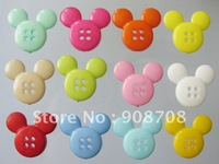H099 plastic kids buttons Mickey shape 200pcs/lot 20mm*22mm four holes garment button