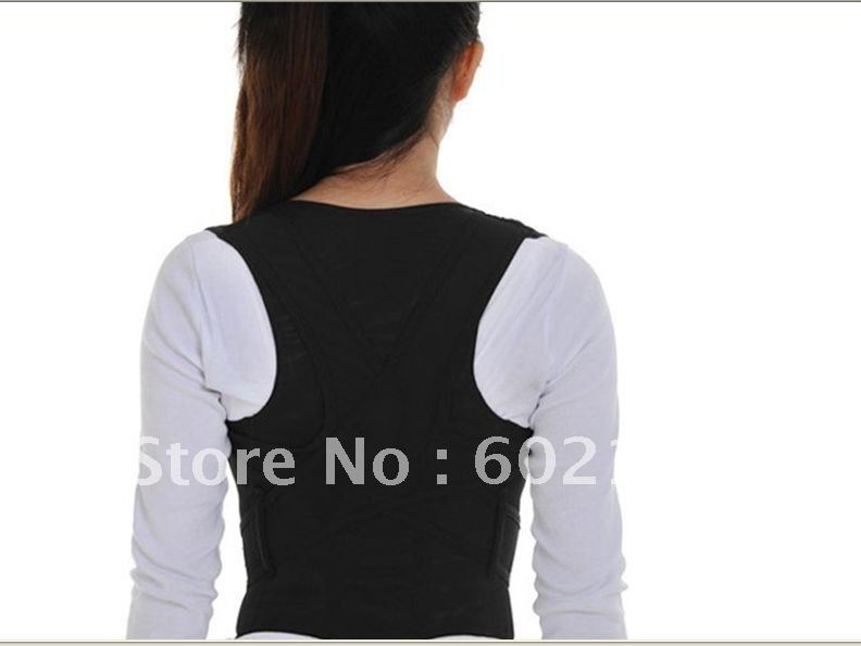 Free Shipping 1Pcs/lot Magic Babaka New Back Support Belt Scoliosis Straight Belt Posture Corrector Novelty Item(China (Mainland))