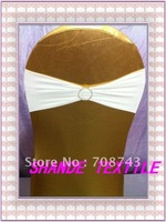 Free shipping / Top  quality white lycra spandex chair band with diamond buckle