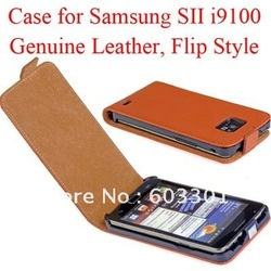 Geguine leather case for samsung galaxy SII i9100, galaxy s2 i9100 case cover protector, accept mix color, free shipping(China (Mainland))