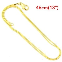 """Free Shipping 10 Pcs Gold Plated Snake Chain Lobster Clasp Necklace 46cm(18"""")(W01768 X 1)"""