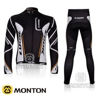 NEW! 2012 LOOK Team Black&White Cycling Jersey/Cycling Wear/Cycling Clothing+Long  Pants-12A Free Shipping