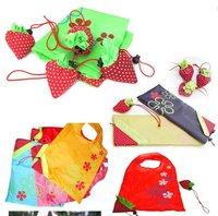 10pcs/lot! Strawberry Foldable Reusable Shopping Bags gift AC