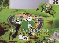 Free Shipping!!100% Cotton Ben 10 Bed Sheet Cartoon Single Bedding set Three-piece Children Bedding G12890 on Sale  Wholesale