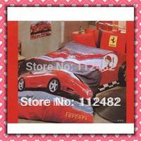 Reactive dyes printed 4pcs Bedding Cotton Cars Bedding Set Children's Free Shipping