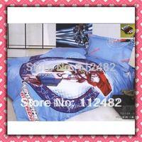 Reactive dyes printed 4pcs Bedding Cotton Boys Bedding Set Children's Free Shipping