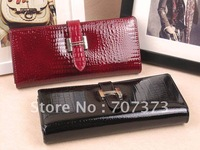 Free Shipping Wholesale And Retail Women&amp;#39;s Leather Wallet Women&amp;#39;s Purse Long Style 2 Colors