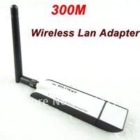Wholesale New 100% 1Pcs 300M USB Wireless LAN Adapter WIFI 802.11 b/g/n Antenna New+High Quality+Free Shipping