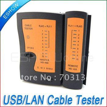 Network Cable RJ11 RJ45 USB Tester Freeshipping&Dropshipping