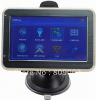 Free Shipping 4.3 Inch LCD Windows CE 6.0 Core GPS Navigator w/FM Transmitter, Built-in 4GB Memory