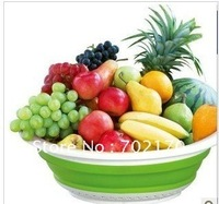 Free shipping NEW Magic Drain vegetables and high-quality folding basket Multi-purpose Fruit Basket