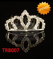 Rhinestone hair accessories birthday tiara fashion hair jewelry 12pcs/lot