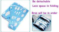 Free Shipping 2pcs/lot Bra Brassiere Socks Underwear Underclothes 7 grids Space Collecting Storage Box Case Bag Organizer