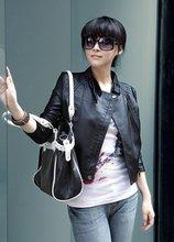 wholesale ladies black denim jacket